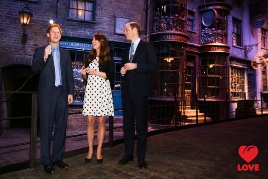 принцы Гарри, Кейт Миддлтон и принц Уильям