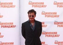 Премьера фильма «Одинокий рейнджер» в Москве. Джонни Депп