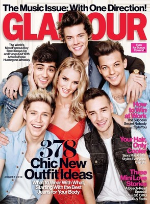 One Direction и Роузи Хантингтон-Уайтли на обложке Glamour