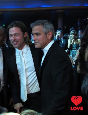 Брэд Питт и Джордж Клуни