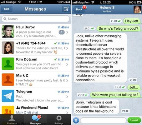 Павел Дуров представил безопасный мессенджер Telegram