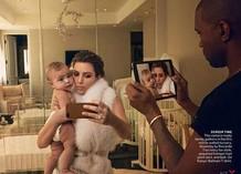 Ким Кардашиян и Канье Уэст для Vogue
