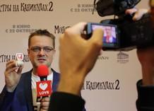 Александр Пушной на спецпоказе мультфильма «Монстры на каникулах 2»