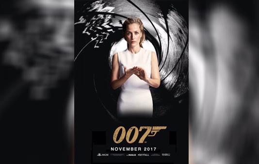 Плакат: Джиллиан Андерсон - Агент 007