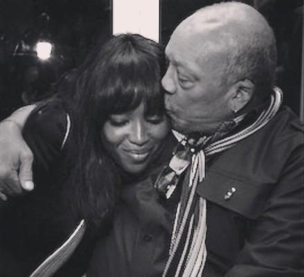 Наоми Кэмпбелл с отцом