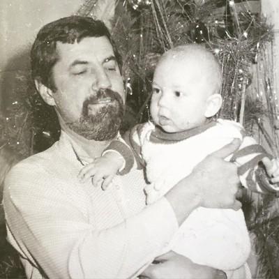 Андрей Бедняков с отцом