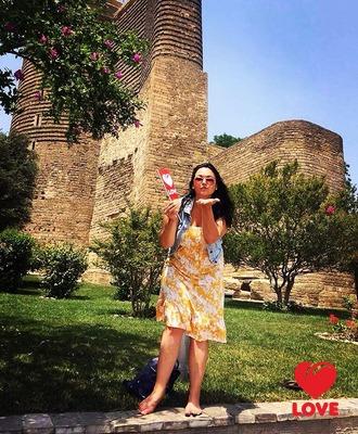 Ольга Мажара в Баку