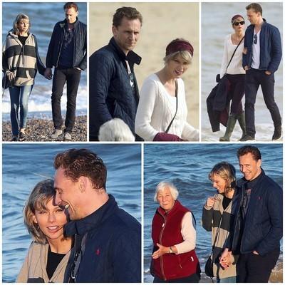 Том Хиддлстон и Тейлор Свифт на прогулке с родителями
