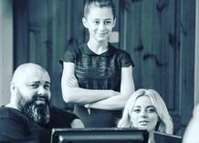 Максим Фадеев, участница шоу «Голос. Дети» Аня Егорова и Екатерина Кищук