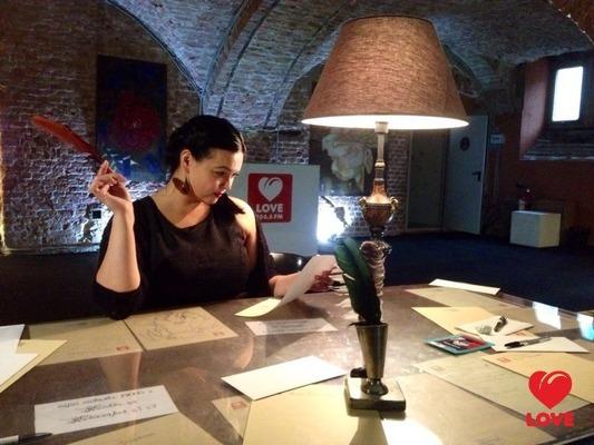 Ольга Мажара пишет письмо Джульетте