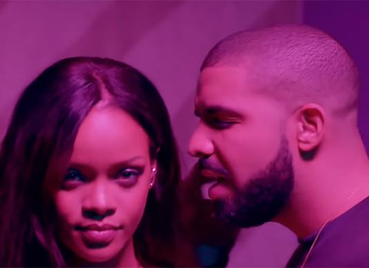 Рианна и Дрейк - кадр из клипа на песню Work