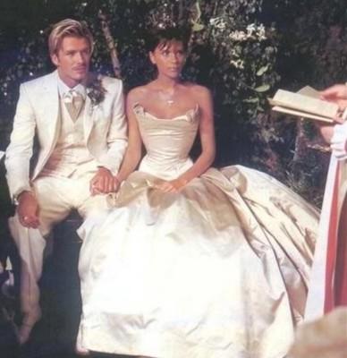 Дэвид и Виктория Бекхэм. 1999 год.