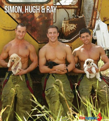 Пажарники для календаря Firefighter's calendar