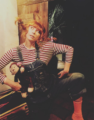 Мария Шарапова в костюме Пеппи Длинный чулок