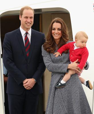 Принц Ульям, принц Джордж и Кейт Миддлтон