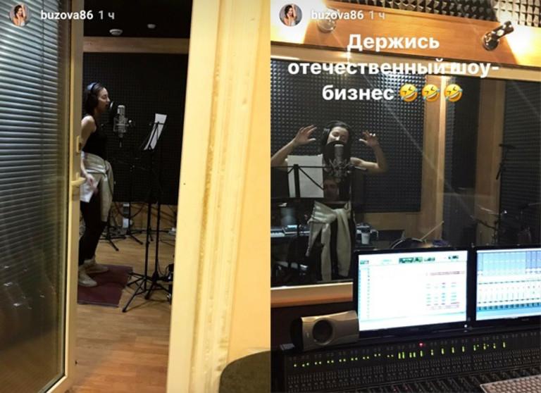 Ольга Бузова на студии звукозаписи