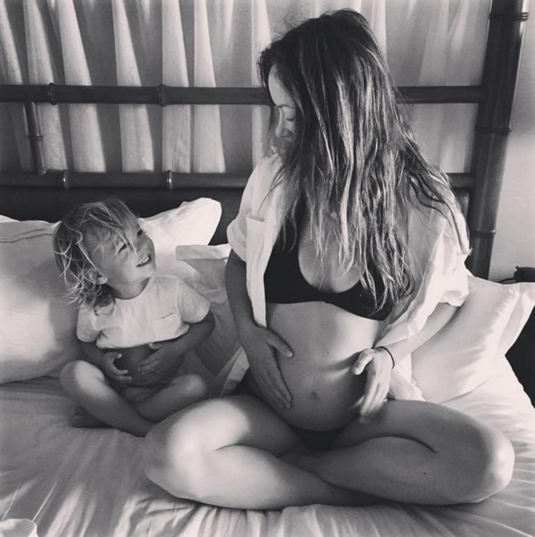 Оливия Уайлд и сын Отис