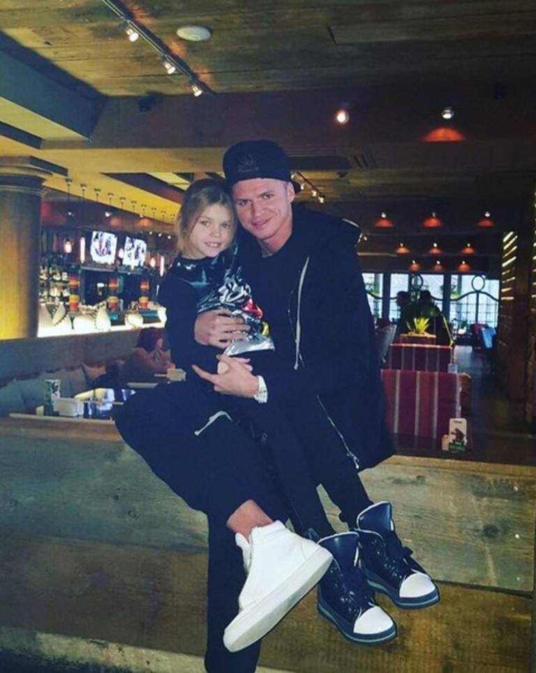 Дмитрий Тарасов и его дочь от первого брака (с Оксаной Тарасовой) Ангелина.
