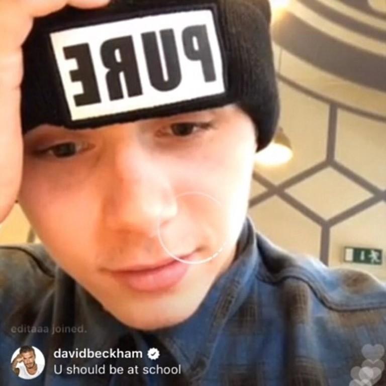 Дэвид написал комментарий во время онлайн-трансляции Бруклина Бекхэма