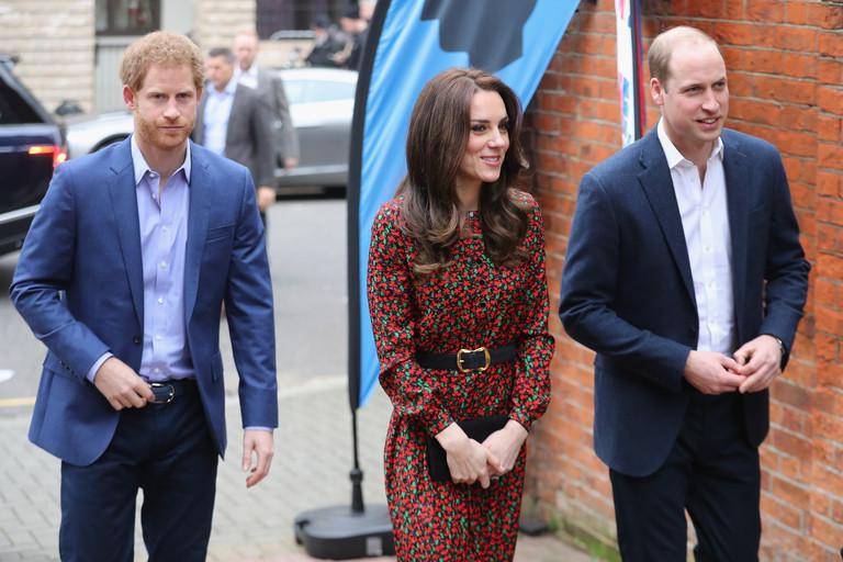Принц Гарри, Кейт Миддлтон и Принц Уильям
