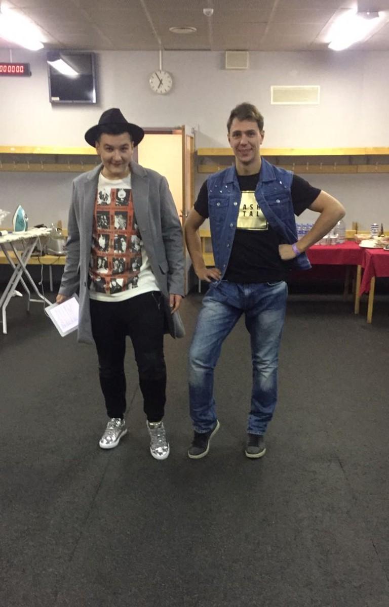 Александр Соколов и Вадик Рычков