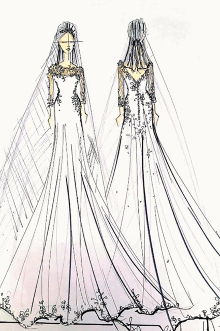 Эскиз свадебного платья от Бена Де Лиси