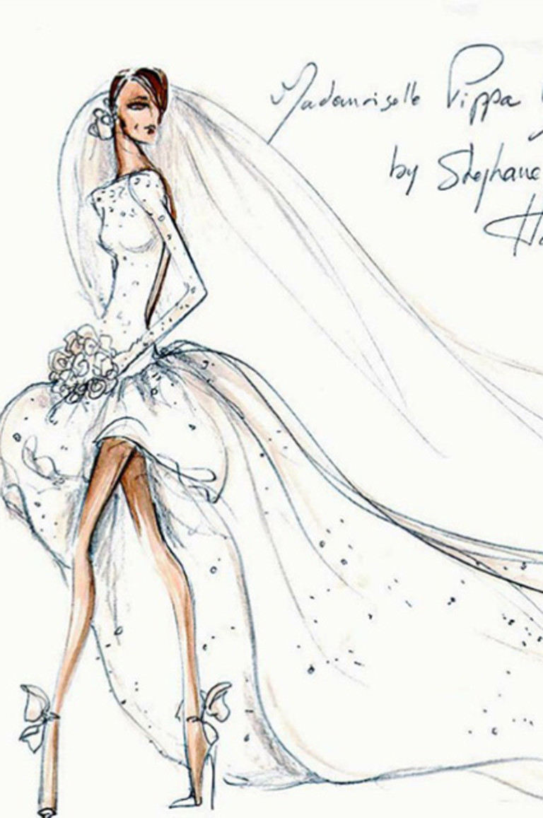 Эскиз свадебного платья от Стефани Роллана