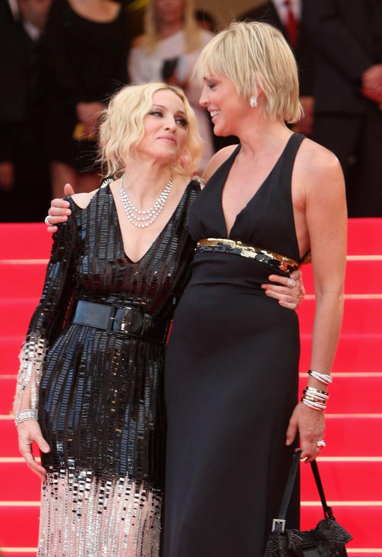 Мадонна и Шэрон Стоун