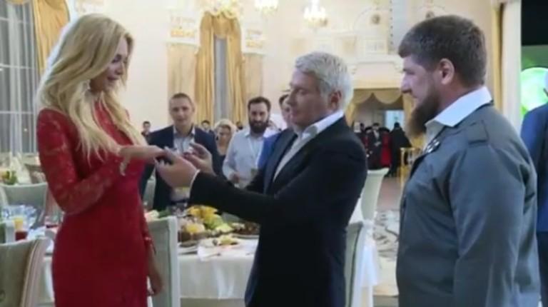 Николай Басков сделал предложение Виктории Лопыревой на глазах у Рамзана Кадырова
