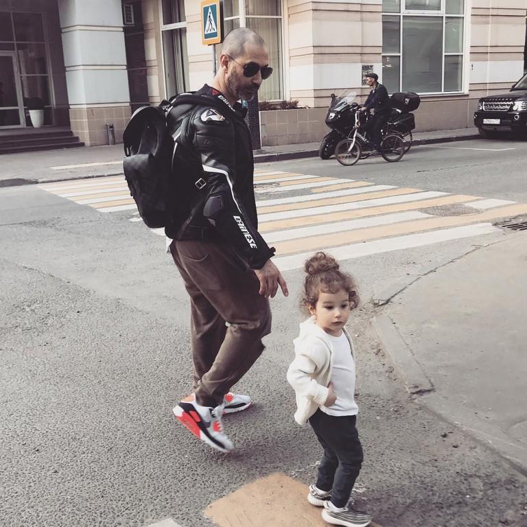 Лев Гейхман с дочкой Оливией
