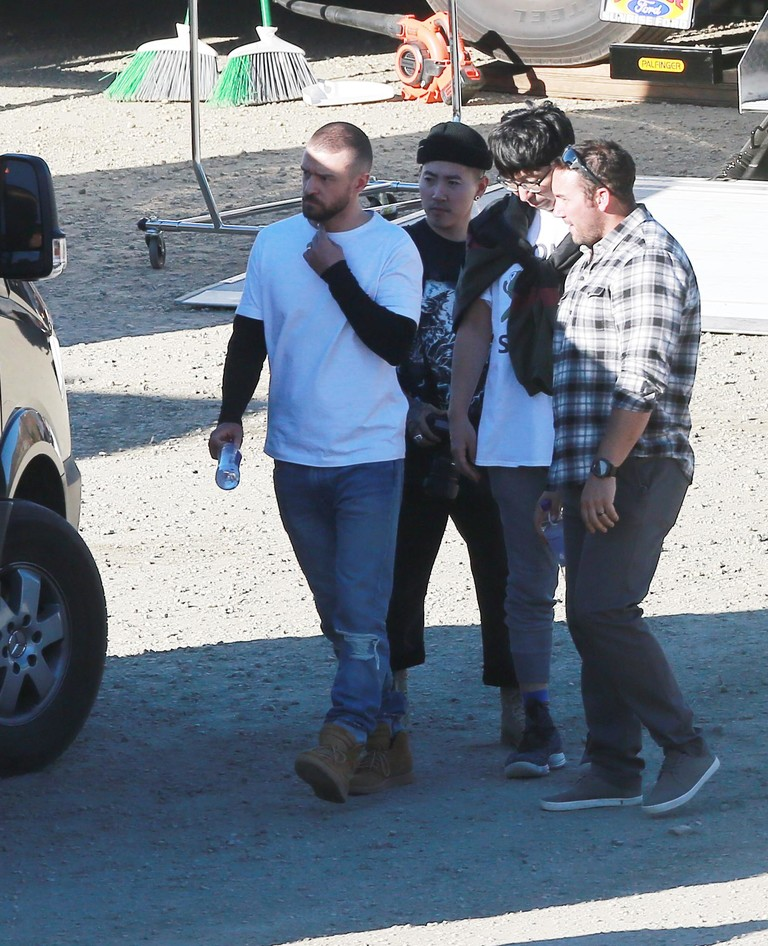 Джастин Тимберлейк на съемках клипа