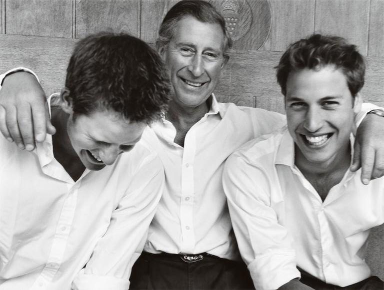 Принц Гарри, принц Чарльз и принц Уильям