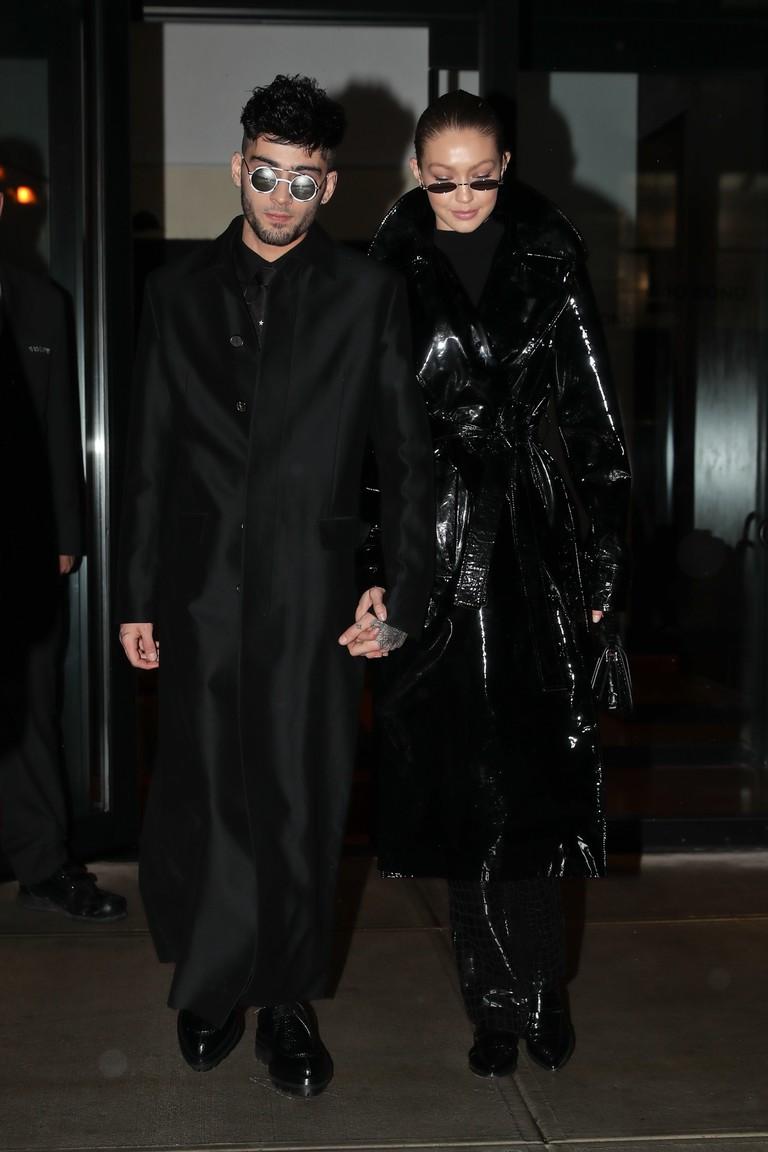 Зейн Малик и Джиджи Хадид на вечеринке в стиле «Матрицы»