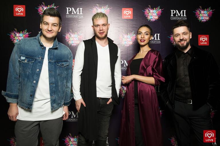Ведущие Love Radio Александр Соколов, Денис Курочкин, Кристина Арестова и Антон Казак