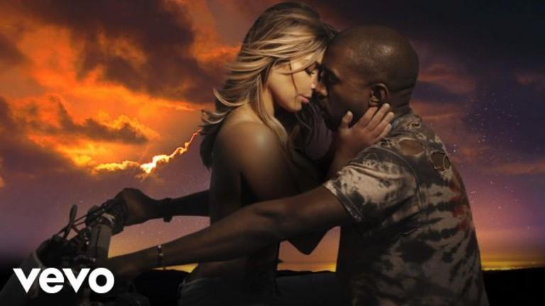 Ким Кардашьян и Канье Уэст в клипе Bound 2