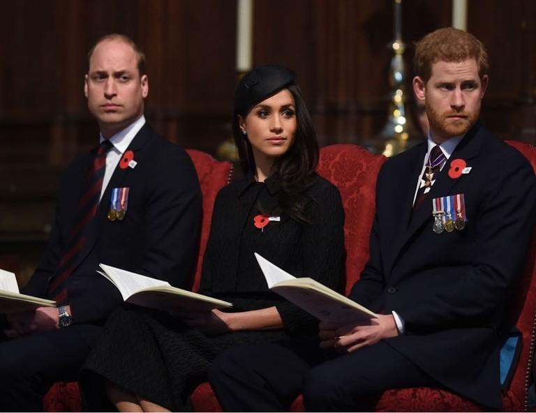 Принц Уильям, принц Гарри и Меган Маркл