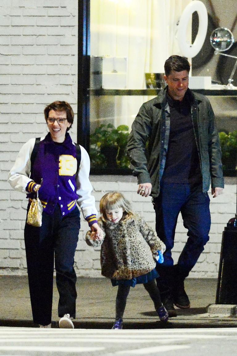 Скарлетт Йоханссон с дочкой и Колином Жостом