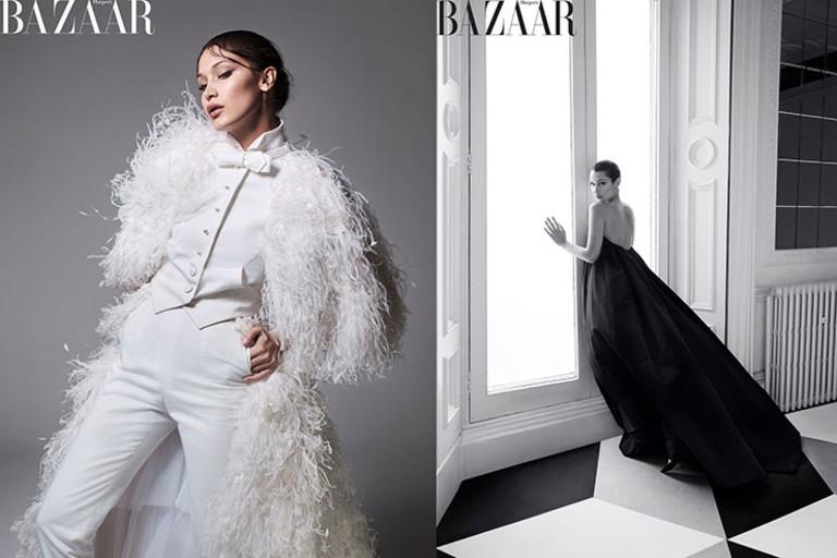 Белла Хадид в журнале Harper's Bazaar
