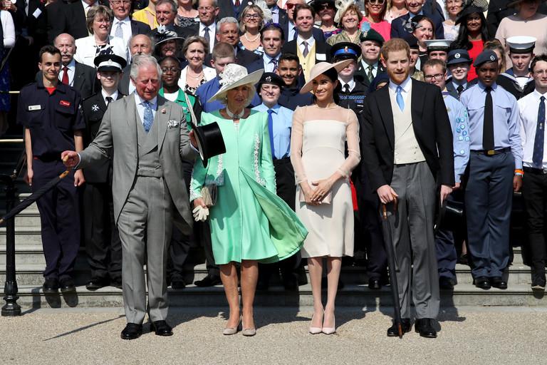 Принц Чарльз с женой Камиллой, герцогиней Корнуольской, герцог и герцогиня Сассекские