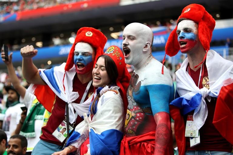 Болельщики российской сборной