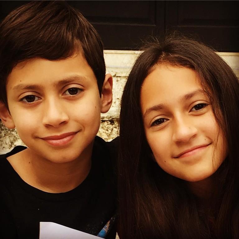 Эмма и Макс - дети Дженнифер Лопес