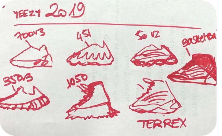 Эскиз кроссовок Yeezy от Канье Уэста
