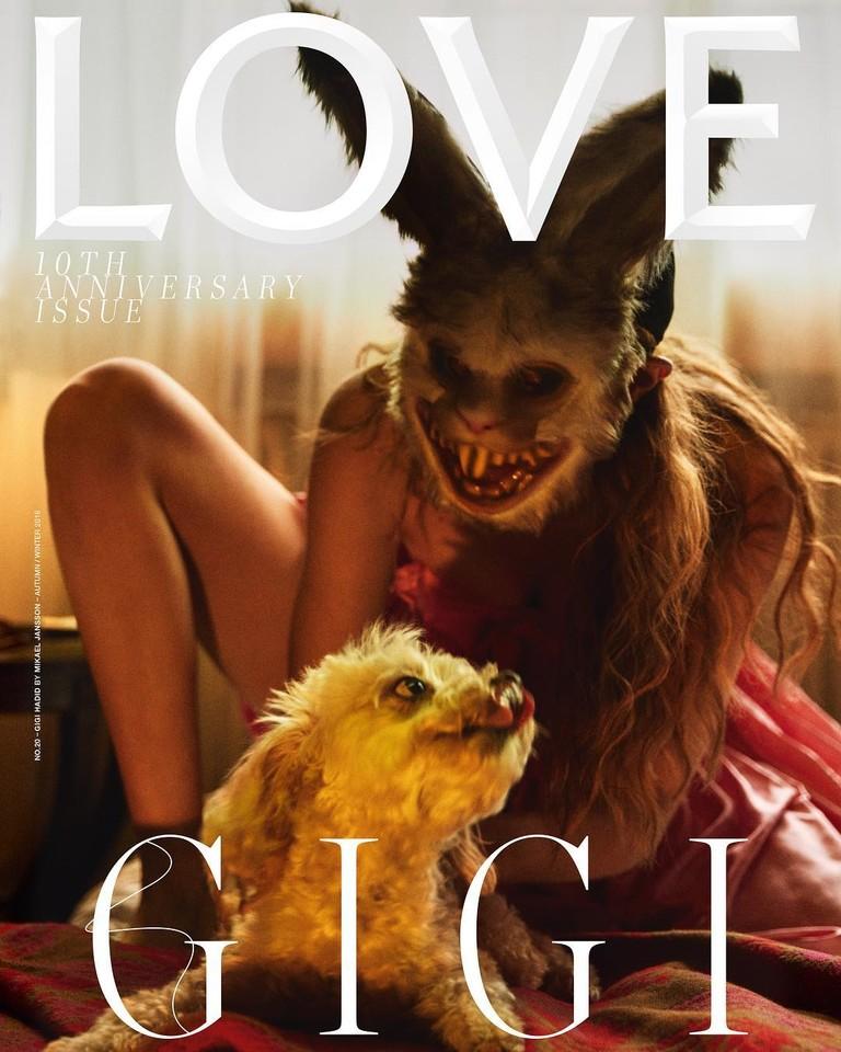 Джиджи Хадид на обложке журнала LOVE