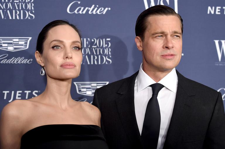 Анджелина Джоли и Брэд Питт, 2015 год