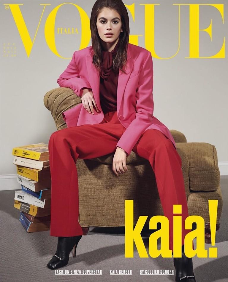 Кайя Гербер для итальянского Vogue