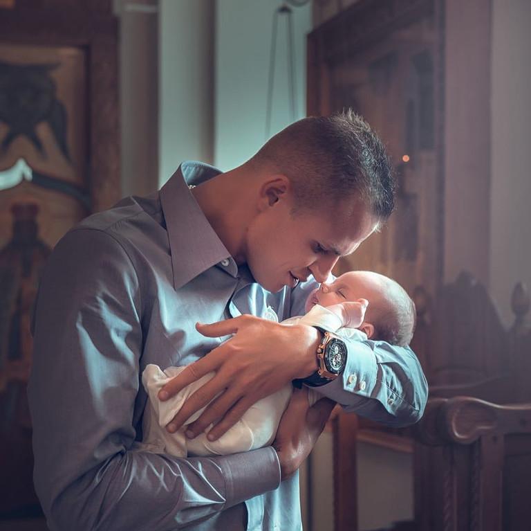 Дмитрий Тарасов с дочерью