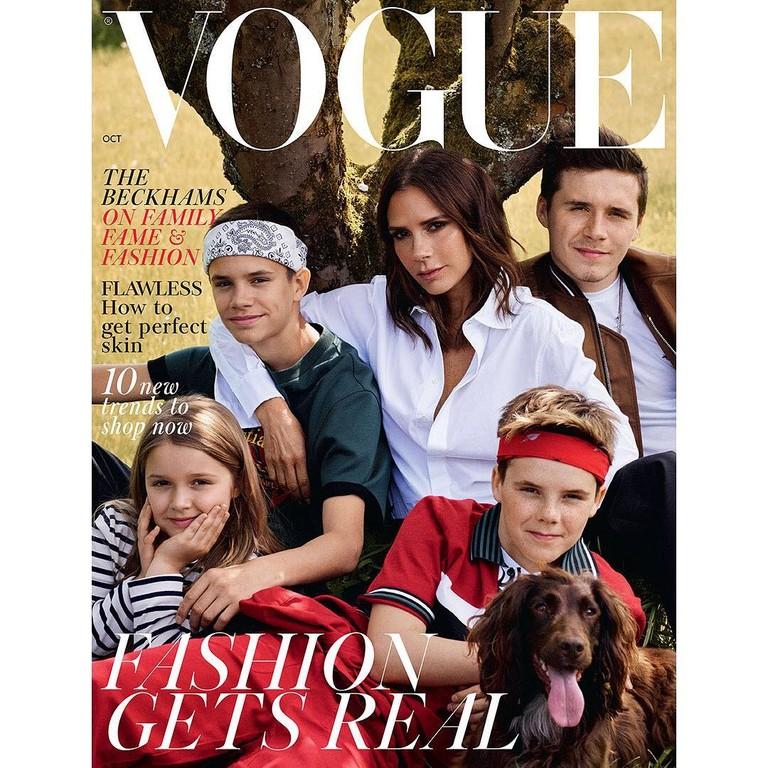 Виктория Бекхэм с детьми на обложке Vogue