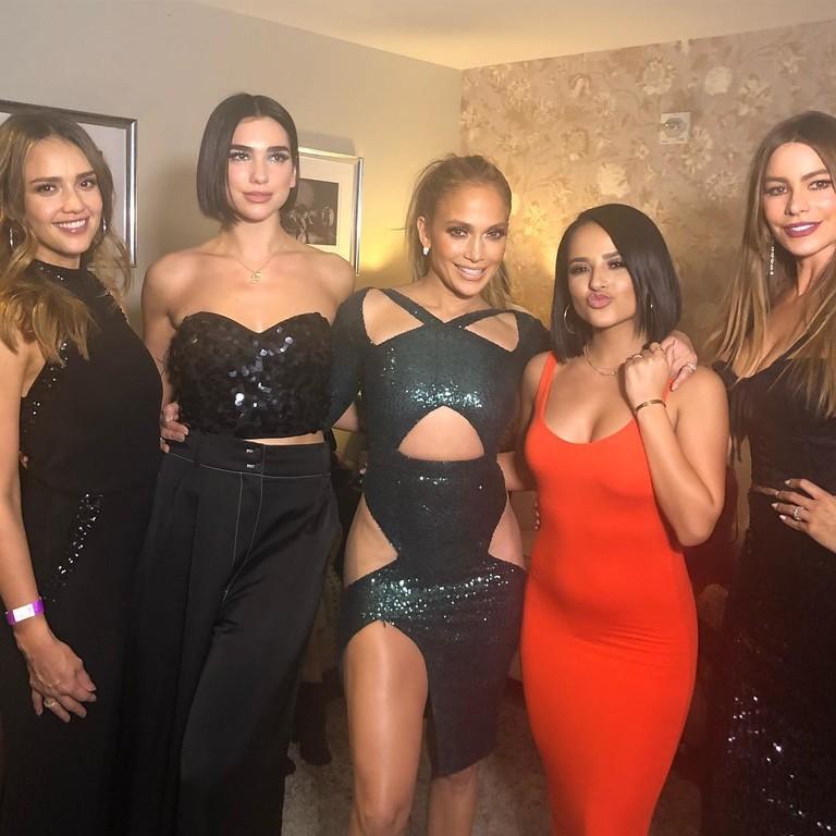 Джессика Альба, Дуа Липа, Дженнифер Лопес, Becky G и София Вергара