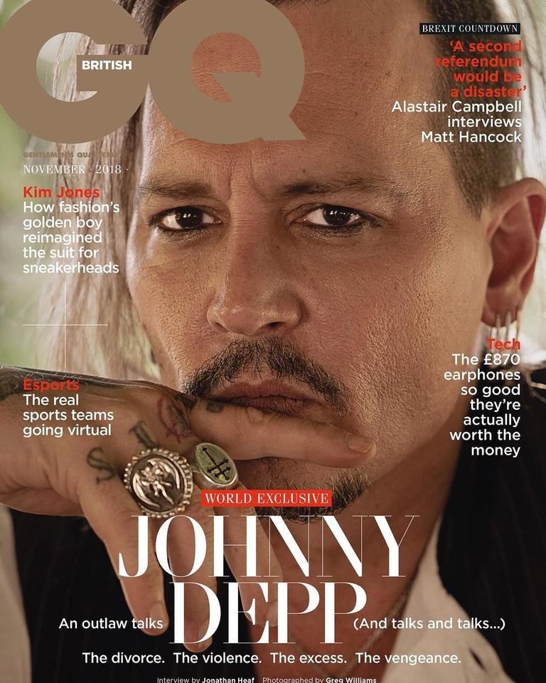 Джонни Депп на обложке GQ