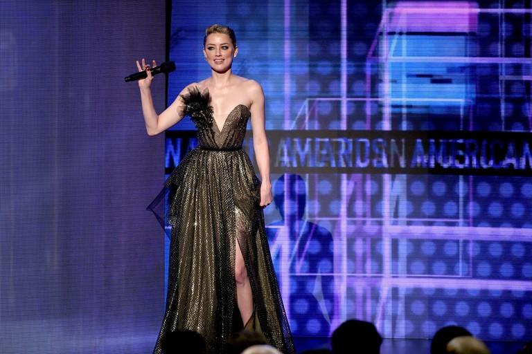 Эмбер Херд на премии American Music Awards 2018